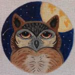 "HW136 Owl Moon 5"" Round Nenah Stone Designs 18 Mesh"