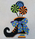 HW143 Witch Lollipop Boot 9x7 Nenah Stone Designs 18 Mesh