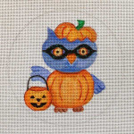 "HW180 Trick or Treat Owl 5"" Round Nenah Stone Designs 18 Mesh"