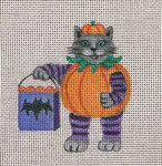 HW191 Pumpkin Kitty 4x3 Nenah Stone Designs 18 Mesh