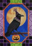 HW175 Halloween Crow 9x8 Nenah Stone Designs 18 Mesh