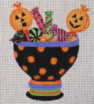 HW174 Halloween Candy Bowl 5 x 5  Nenah Stone Designs 18 Mesh