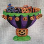 HW171 Pumpkin Candy Dish 5x5 Nenah Stone Designs 18 Mesh