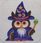 "HW159 Wizard Owl 4"" Round Nenah Stone Designs 18 Mesh"