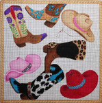 SS198 Hats and Boots 14x14  Nenah Stone Designs 18 Mesh