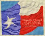 SC233 Texas Flag 11x9 Nenah Stone Designs 18 Mesh