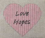 8005 18 Mesh Love Hopes 4 x 4  Purple Palm