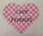 8003 18 Mesh Love Protects 4 x 4 Purple Palm