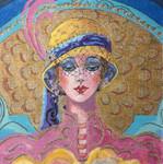 209 Adriana's Portrait 9 x 9 18 Mesh Purple Palm