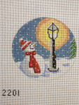 2201 Street Light Snowman 4 x 4 18 Mesh Purple Palm Designs