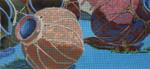 109 Blue Pots Four 18 Mesh 6 x 13 Purple Palm