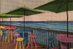 7001 18 Mesh Morning on Sunset Pier - KW 7 x 10 Purple Palm