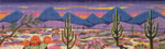 6101 18 Mesh Desert Sunset 5 x 16 Purple Palm