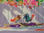 30 18 Mesh Key West Chickens 7 X 9 Purple Palm
