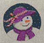 4405 Snowlady in Purple 4x4 18 Mesh Purple Palm Designs
