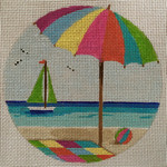 1501 Beach Day 5 x 5 18 Mesh Purple Palm Designs