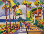 11 Palm Beach Morning 9 x 12 13 Mesh Purple Palm