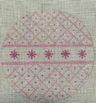 2204-PK 18 Mesh Pink Glitter 4 x 4 Purple Palm
