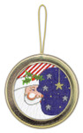 BAG66G Silver Needle Ornament / Gold 5.25 in. round