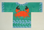 Waterweave CO1602* Feeling Crabby Sweater, hanger, and stitch guide 6 x 4 18 Mesh