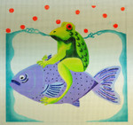Waterweave CO1611* Frog on a Fish 9 x 9 18 Mesh