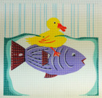 Waterweave CO1610 Duck on a Fish 8 x 8 18 Mesh