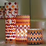 Waterweave CO1622* Orange Set of three Candle Wraps and Stitch Guide 9.5 x 3, 9.5 x 6, 9.5 x 9 18 Mesh