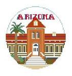 "BT196 U of Arizona Old Main Kathy Schenkel Designs  4"" Diameter"