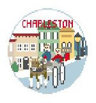 "BT188 Charleston Round Kathy Schenkel Designs  4"" Diameter"