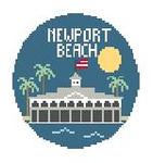 """BT175 Newport Beach Round Kathy Schenkel Designs  4"""" Diameter"""
