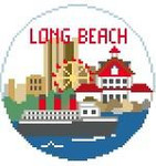 "BT130 Long Beach Round/4""Kathy Schenkel Designs 4 x 4"