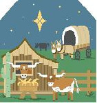 BG116 Cowboy Nativity Kathy Schenkel Designs 8 x 7.5