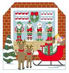 BG115 Santa's Workshop Kathy Schenkel Designs 8x 7.5