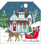 BG111 Victorian Christmas Backdrop Kathy Schenkel Designs 8 x 7.5