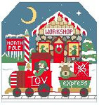 BG109 Tiny Toy Express Background Kathy Schenkel Designs 7.5 x 8