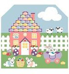 BG107 Tiny Easter Background Kathy Schenkel Designs 7.5 x 8