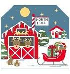 BG106 Tiny North Pole Background  Kathy Schenkel Designs 7.5 x 8