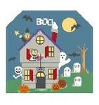 BG102 Tiny Halloween Background Kathy Schenkel Designs 7.5 x 8