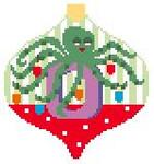 AO115 O Octopus Bauble 4 x 4 Kathy Schenkel Designs