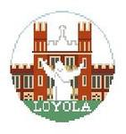"""BT203 Loyola U, LA Kathy Schenkel Designs  4"""" Diameter"""