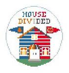 """BT270F House Divided Cubs/Cardinals Kathy Schenkel Designs 4"""" Diameter"""