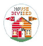 "BT269W House Divided Oklahoma U/Oklahoma Kathy Schenkel Designs 4"" Diameter"