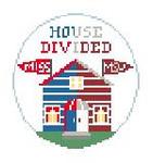 """BT269Q House Divided Ole Miss/MSU Kathy Schenkel Designs 4"""" Diameter"""