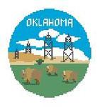 """BT258 Oklahoma Round Kathy Schenkel Designs  4"""" Diameter"""