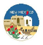 "BT257 New Mexico Round Kathy Schenkel Designs  4"" Diameter"