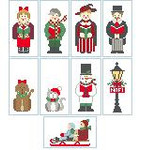 CO992 Tiny Caroling Snowman Only Kathy Schenkel Designs 1.5 x 3