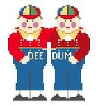 MP320 Tweedledum & Tweedledee Kathy Schenkel Designs 4 x 4.5