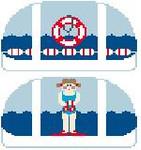 SH310 Swimmer Duffle Kathy Schenkel Designs 4.75 x 2.5
