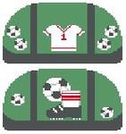 SH304 Soccer Duffle Kathy Schenkel Designs 4.75 x 2.5