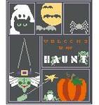 SA115 Halloween Sampler w/SG Kathy Schenkel Designs 8 x 10